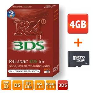 R4 3DS - 4GB Card - R4i 3DS SDHC Card